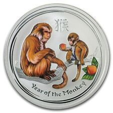 Perth Mint Australia 2016 Colored Monkey 1/2 oz .999 Silver Coin