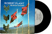 "ROBERT PLANT (OF LED ZEPPELIN) - HEAVEN KNOWS - 7"" 45 VINYL RECORD PIC SLV 1988"