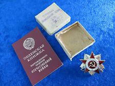 UDSSR Orden des Vaterländischen Krieges,1 Kl. Mit Urkunde und Schachtel. (DD37)