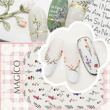 1Sheet Adhesive 3D Nail Art Sticker Ultrathin Flower Leaf Nail Decals Decoration