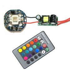 10W RGB SMD LED Diodes light + IR Controller With 24 key Remote + 110~220 Driver