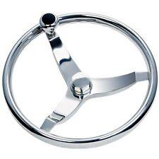 """Schmitt Ongaro 714 Vision Cast 13.5"""" Stainless Boat Steering Wheel 3/4"""" Shaft"""