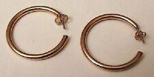 boucles d'oreilles percées anneaux pleins bijou rétro couleur or qualité *4572