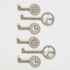 """GRAPHIC 45 STAPLES """"SHABBY CHIC METAL CLOCK KEYS"""" 6 PIECES SCRAPJACK'S PLACE"""