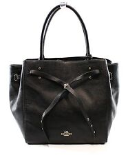 Coach NEW Black Women's Hobo Leather Tote Turnlock Handbag Purse $350- #066