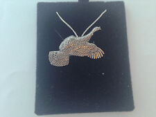 B17B Flying Turkey on a 925 sterling silver Necklace Handmade 16 inch chain
