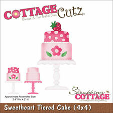 "CottageCutz Die 4""X4"" ~ Sweetheart Tiered Cake, 4X4562 ~ NIP"