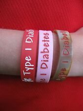 Type 1 Diabetes Medical Alert Bracelet Extra Small Child BOY- FREE TATTOOS!