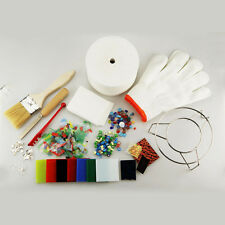 DIY Professional 15pcs/Set Mini Microwave Kiln Kit Stained Glass Fusing Supplies