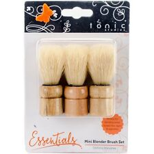 3 Duster Stippling Brushes use w/ Stencils, Paint, Ink, Mica & Embossing Powders