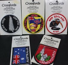 NEW Lot 5 New Zealand Sew On Patches Kiwi Silver Fern Australia Christchurch