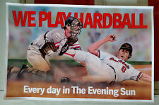 Cal Ripken Jr. The Evening Sun Banner 'We Play Hardball' Baltimore Orioles 11x17