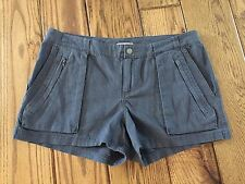 "Converse One Star 3"" Shorts Steel Gray Linen Blend Size 6 NWOT"