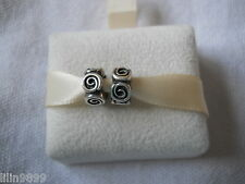 Genuine PANDORA sterling silver  Roses Spacer Charm 790970 x2