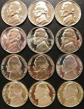 1968-1979 S Jefferson Nickel Gem Proof Run 12 Coin Run US Mint Lot