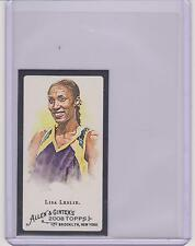2008 ALLEN & GINTER LISA LESLIE BLACK BORDER MINI CARD #247 ~WNBA BASKETBALL