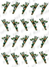 20 TREE FROG WATER SLIDE NAIL ART DECALS-COLORFUL DESIGN NAIL DECALS