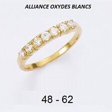 Dolly-Bijoux Alliance T48 à 64 Demi-Rail Diamant Cz 2mm Plaqué Or 18K