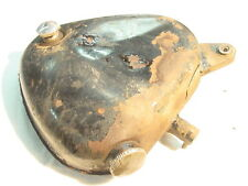 BSA A10 A7 B34 OIL TANK OIL BAG GOOD MOUNT TABS AND FITTINGS, NO RUST INSIDE BUT