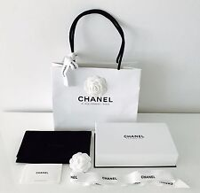 New AUTH Chanel Velvet pouch White Gift Box Paper gift Bag 31 Rue Cambon- Paris