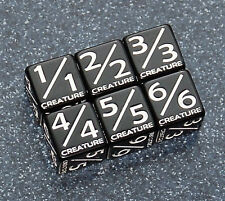 5X mtg black creature dice: 1/1, 2/2, 3/3, 4/4, 5/5, 6/6 TOKENS2017 LG 19mm rat