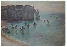 CPSM GF Peinture - Monet - Etretat, la Porte d'Aval