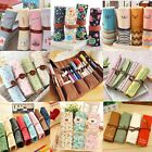 Student Stationery Canvas Roll Up Pencil Case Pen Brush Wrap Cosmetic Makeup Bag