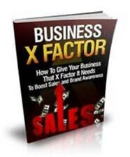 Business X Factor Viral Report Ebook On CD $5.95 Plus Resale Right Free Shipping