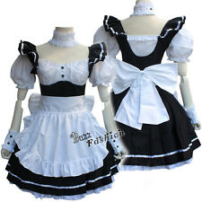 Lolita White Mixed Black Color Full Set Women Anime French Maid Cosplay Costume
