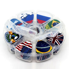 50pcs Country Flag Guitar Picks Music Mix Plectrums+Round box