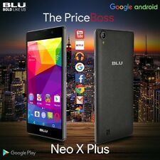 "Blu Neo X Plus 5.5"" HD 8GB Phone 4G 8MP Android Unlocked GSM Black N090U New"