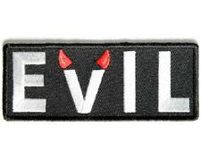LOT OF 2 - EVIL EMBROIDERED BIKER PATCH