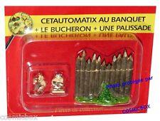 Le VILLAGE d'ASTERIX n° 56 figurine CETAUTOMATIX au banquet figure Atlas PLASTOY