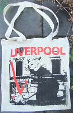 Limited Edition BANKSY 's LIVERPOOL CAT / RAT Screen Printed Tote Bag