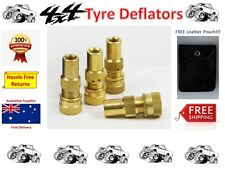 Brass Values automatic pressure TYRE DEFLATORS (x4) in handy pouch