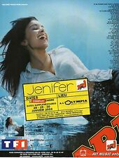 Publicité Advertising 2003 radio NRJ concert jenifer