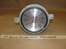 OEM Factory Original 77 Buick Riviera DASH CLOCK w/ QUARTZ MOVEMENT **SERVICED**