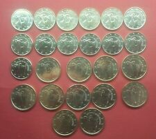 CYPRUS EURO 24 COINS , 1 , 2 CENT , 2008 , 2011 , 2015 , ALMOST UNC