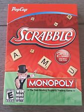 Pop Cap Scrabble Monopoly PC Game 2 Full Games in 1 NEW Windows MAC 2013
