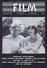 LEACOCK / PENNEBAKER Monthly Film Bulletin Aug 1983
