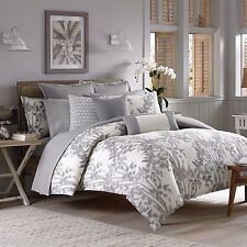 3-Pc Tommy Bahama Laguna Ridge Full-Queen Duvet Set Gray Tropical Floral Bamboo