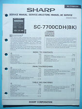 Service Manual-instrucciones para Sharp sc-7700 cdh, original