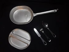 U.S. Military Issue Mess Kit Chow Kit w/ Utensils Camping Hiking Prepper Gear VG