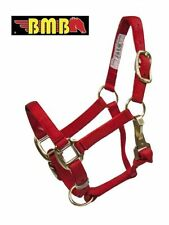 PREMIUM BMB TRIPLE PLY RED NYLON DELUXE MINIATURE MINI SIZE HORSE OR FOAL HALTER