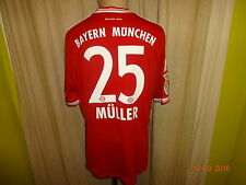 "FC Bayern München Original Adidas Trikot 13/14 ""-T- - -"" + Nr.25 Müller Gr.L Neu"