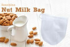 Nut Milk Bag - USA Ship - Raw Food Strainer Fine Nylon Mesh - Amazing Filter