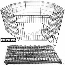 8 Panel Extra Large Pet Play Pen Dog Puppy Rabbit Cage Crate Run Garden Fence UK