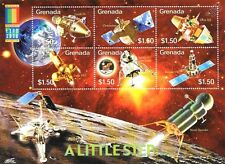 A LITTLE STEP Spacecraft/Probes/Satellites Space Stamp Sheet (2000 Grenada)
