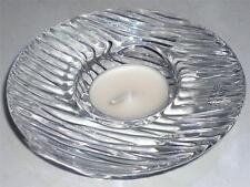STUNNING STYLISH CRYSTAL GLASS SCANDINAVIAN HOLMEGAARD TEALIGHT CANDLE HOLDER