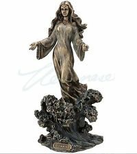 Yemaya Sculpture Standing On Ocean Wave Statue Figurine - WE SHIP WORLDWIDE